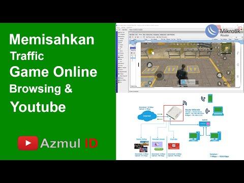 Cara Memisahkan Traffic Game Online Browsing dan Youtube (Mangle + Simple Queue)
