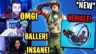 Streamers React to *NEW* 'Baller' Vehicle + 'Munitions Major' Skin! | Fortnite Highlights