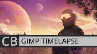[GIMP TIMELAPSE] TRANSOLAR GALACTICA PHOTOBASH ILLUSTRATION