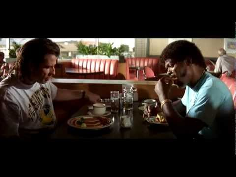 pulp fiction - The first and final scenes of Pulp Fiction cross over both in time and tone. Inspired by a chronological version of the film, I decided to edit this scene in...