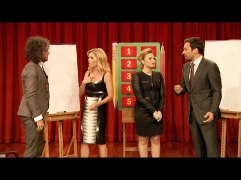jimmy fallon - Jimmy and Demi Lovato square off against Julie Bowen and Wayne Coyne in an intense Pictionary battle! Part 1 of 2 Subscribe NOW to Late Night with Jimmy Fall...