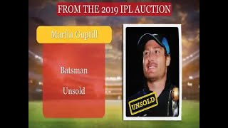 IPL Auction 2019 : New Zealand Player Martin Guptill Goes Unsold | ABP News