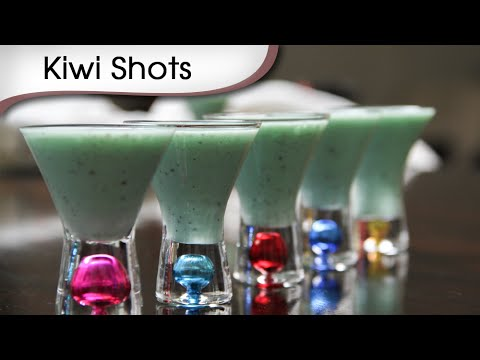 Kiwi Shots – Quick Party Coolers – Easy To Make Mocktail Recipe By Ruchi Bharani