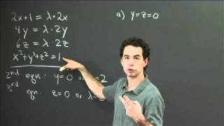 Lagrange Multipliers (3 Variables) | MIT 18.02SC Multivariable Calculus, Fall 2010