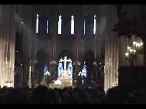 Service at Notre Dame Cathedral - Paris, France