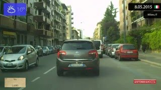 Limbiate Italy  city images : Driving from Limbiate to Centro Direzionale di Milano (Italy) 8.05.2015 Timelapse x4