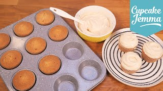 Salted Caramel Cupcake Sponge Recipe   Cupcake Jemma by Cupcake Jemma