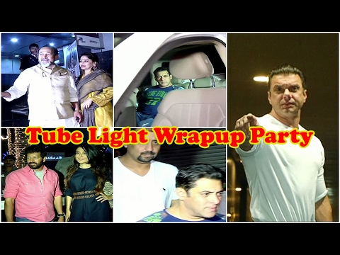 Salman Khan, Kabir Khan, Sohail Khan At Wrapup Party Of Movie Tube Light