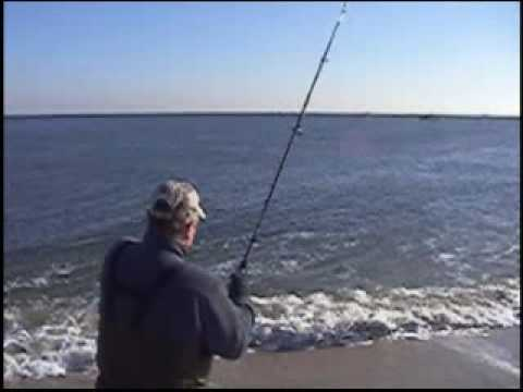 Surf Fishing for Stripers – Sandy Hook, NJ 2008