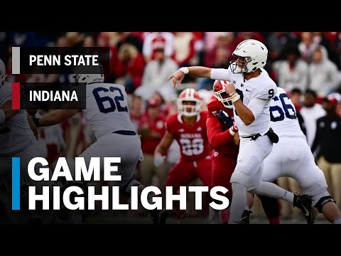 Highlights: Penn State Nittany Lions Vs. Indiana Hoosiers | Big Ten Football