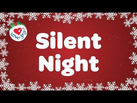 Silent Night with Lyrics | Christmas Carol