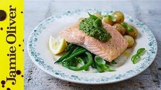 Pan-fried Salmon & Pesto Veg | Jamie Oliver by Jamie Oliver