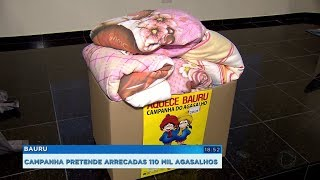 Campanha do agasalho pretende arrecadar cerca de 110 mil peças em Bauru