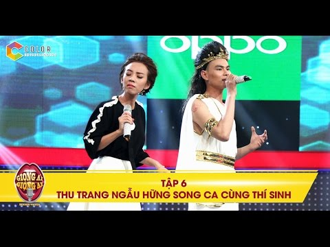 Thu Trang song ca cùng thí sinh có giọng ca chìm xuống