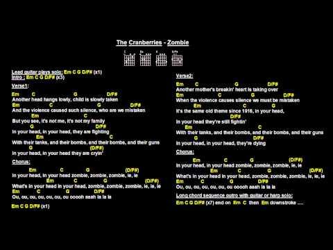 Guitar guitar chords zombie cranberries : Online: Zombie Cranberries Lyrics Chords On Screen Easy Strum ...