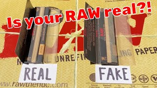 How to know if your RAW paper is real!! by Raw Papers