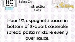 KC Baked Ziti YouTube video