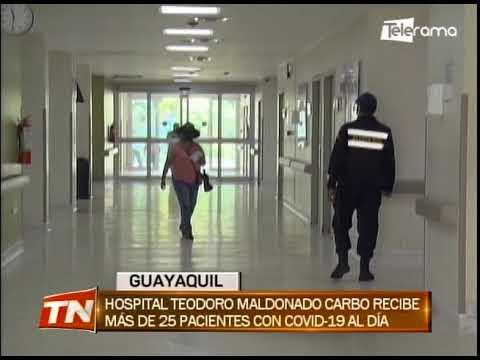 Hospital Teodoro Maldonado Carbo recibe más de 25 pacientes con covid- 19 al día