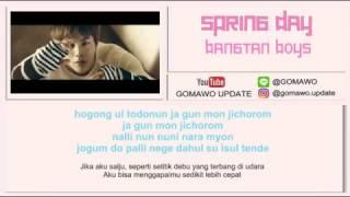Video LIRIK BTS - SPRING DAY by GOMAWO [LIRIK KOREA, INDONESIA & MV] MP3, 3GP, MP4, WEBM, AVI, FLV Agustus 2018