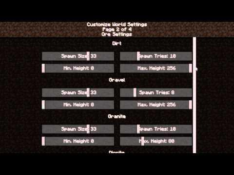 Minecraft Туториал - Настройка генератора (Customized World Type)