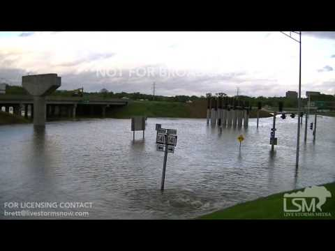 5-1-17 - Valley Park Missouri - Meramec River Flood Highway 141 & interstate 44