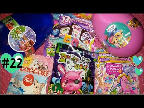 #22 BLIND BAG EDICOLA: Apriamo COCCOLI, Zombie PETS, Unicorn charms..+OVOTTI!!! (+saluti) (видео)