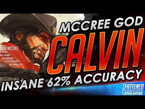McCree GOD AimbotCalvin Gets The Luckiest Melee Kill & Hard Carries (видео)
