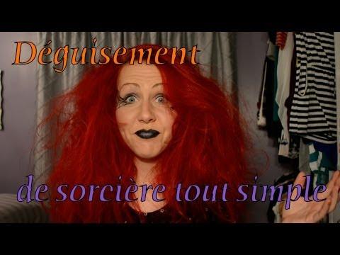 Déguisement de sorcière tout simple :)