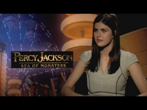 Alexandra Daddario - Alexandra Daddario chats about new movie Percy Jackson: Sea of Monsters and how similar she thinks Logan Lerman is to Percy Jackson. Report by Poppy Jamie. S...