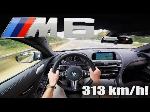 BMW M6 COMPETITION Gran Coupe ACCELERATION TOP SPEED 313 km/h Autobahn POV Test Drive Sound