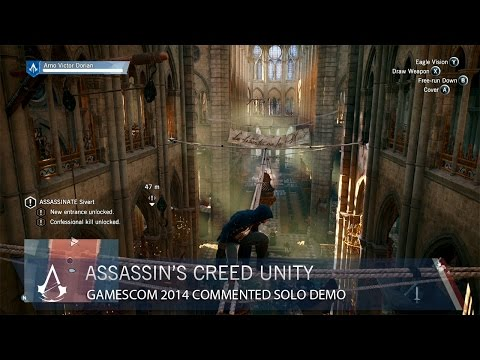 assassin - Watch 11 minutes of uncut single player Assassin's Creed Unity gameplay. Narrated by Creative Director Alex Amancio, follow a full single player assassinatio...