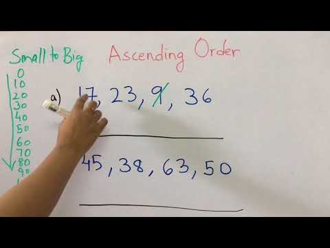 How To Teach Ascending Order To Kids !!!