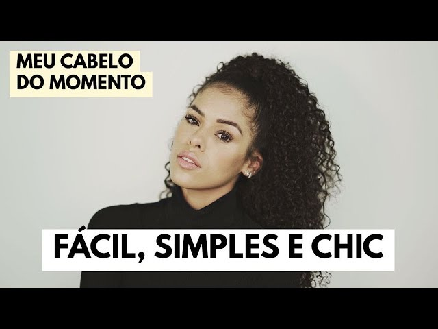PENTEADO RÁPIDO E LINDO PRA CABELO CACHEADO | RAYZA NICÁCIO - Rayza Nicácio