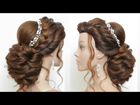 Hairstyles for long hair - New Latest Hairstyle For Girls And Women. Bridal Updo for Long Hair