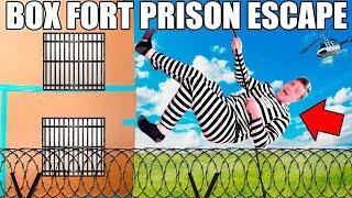 24 HOUR FOUR STORY BOX FORT PRISON ESCAPE!! 📦🚔