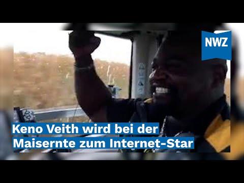 Keno Veith wird bei der Maisernte zum Internet-Star