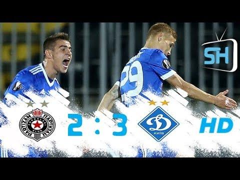 Partizan vs Dynamo Kyiv 2-3 All Goals and Highlights Europa League September 28 ,2017