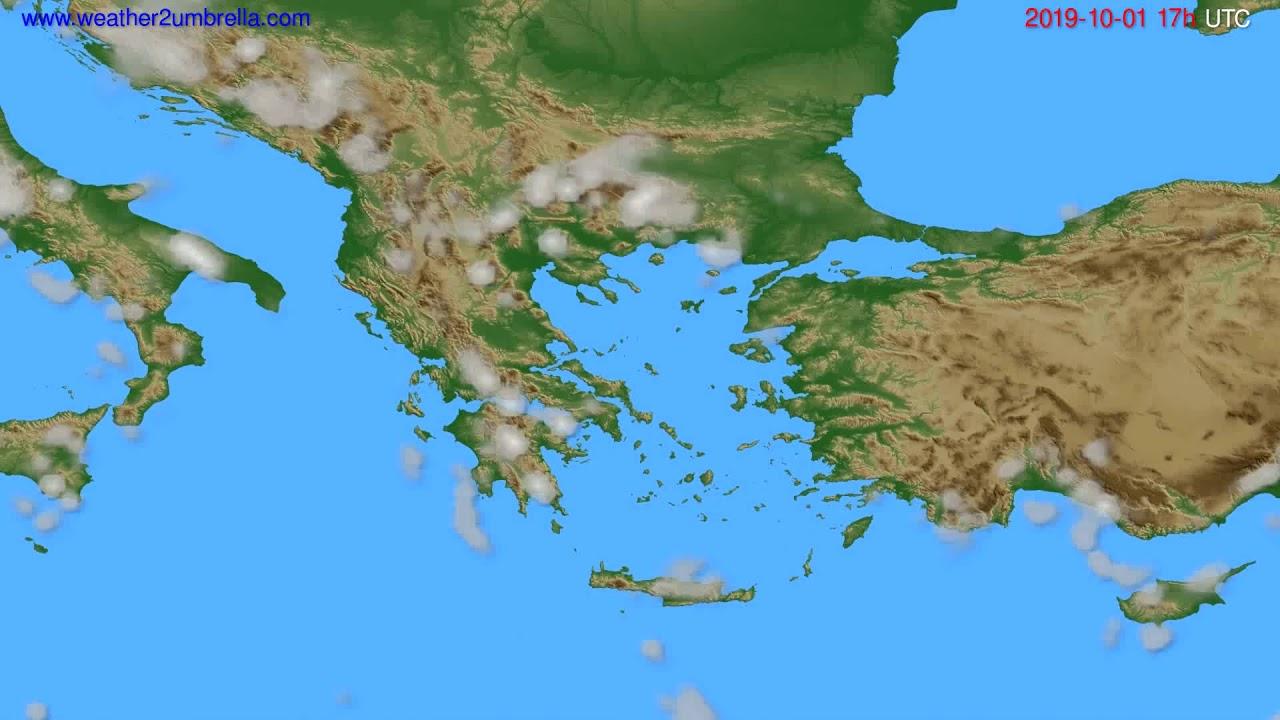 Cloud forecast Greece // modelrun: 00h UTC 2019-09-30