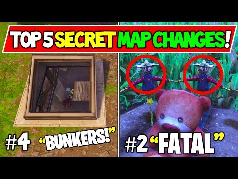 """*NEW* FORTNITE SECRET MAP CHANGES """"TOP 5 OF ALL TIME!"""""""