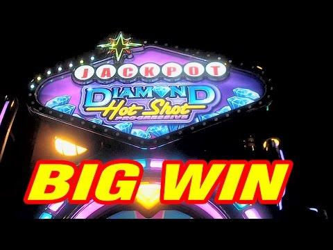 Diamond Hot Shot BIG WIN Slot Machine Bonus