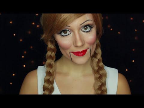 Maquillage halloween poupée démoniaque/poupée de ventriloque