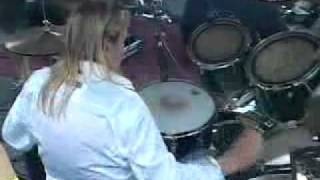 Nicko McBrain of Iron Maiden (Drummer) playing the song
