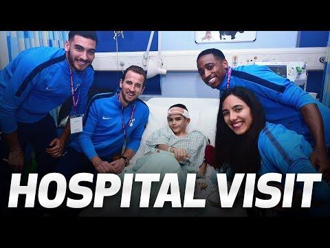 Video: HARRY KANE AND CO SPREAD FESTIVE JOY ON ANNUAL HOSPITAL VISIT