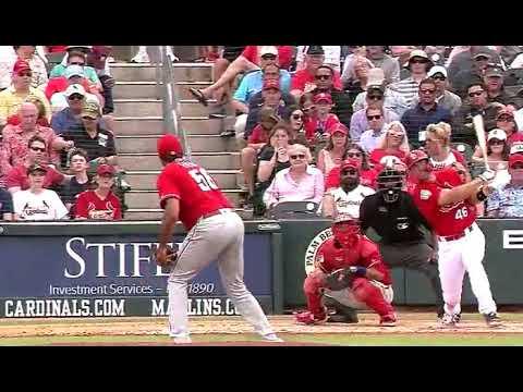 Paul Goldschmidt first homer as a Cardinal in Spring Training