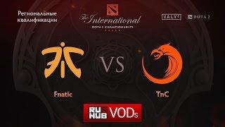 Fnatic vs TnC, game 1