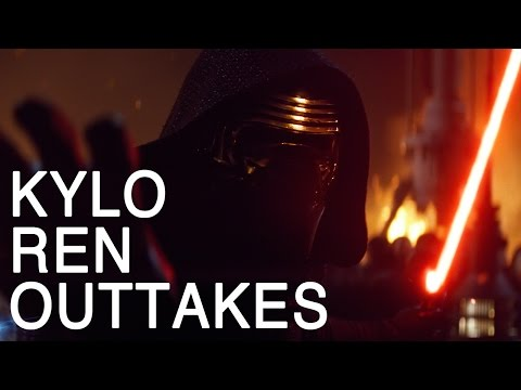 Kylo Ren Outtakes from the Force Awakens!