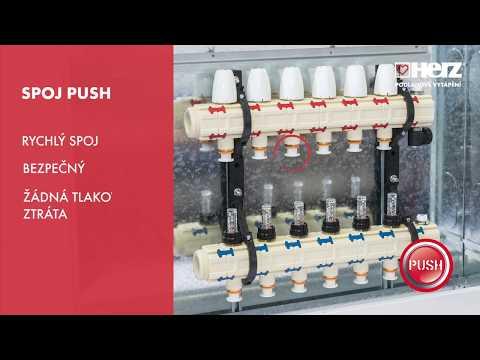 PUSH rozdělovač - montáž, připojení a nastavení