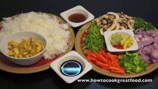 Tofu&Vegetable Fried Rice Vegan How To Cook Great Food Recipe Chinese Thai Asian Style