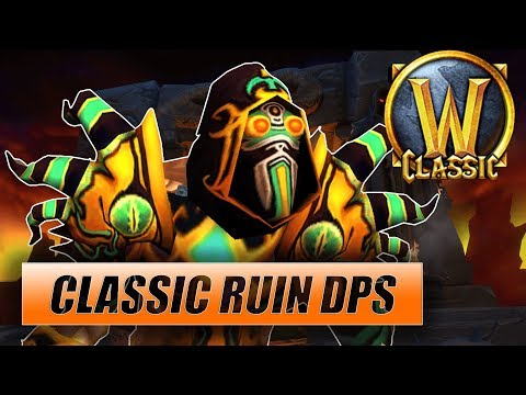 Classic WoW Ruin Warlock DPS видео