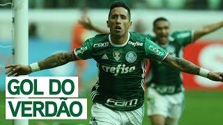 Os gols de Barrios e Cleiton Xavier que deram a vitória e devolveram a liderança do Campeonato Brasileiro ao Palmeiras.